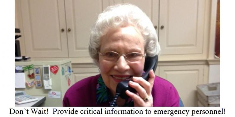 Provide Emergency Personnel with Critical Information
